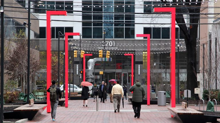 Innovation Plaza occupies two blocks of 37th Street in University City. (Emma Lee/WHYY)