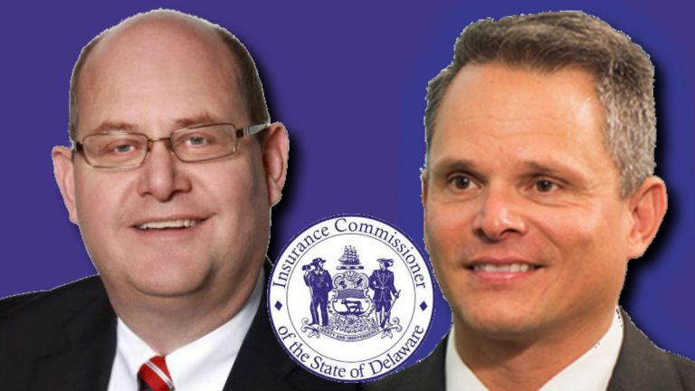 Republican Jeff Cragg (left) and Democrat Trinidad Navarro are vying to be Delaware's next Insurance Commissioner.