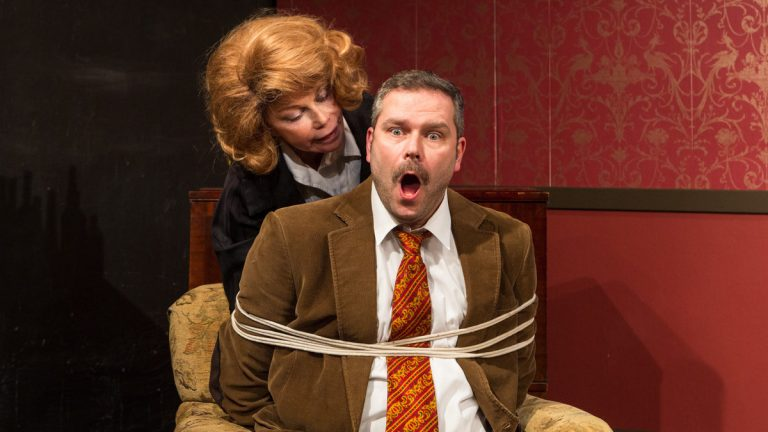 Renee Richman-Weisband and Rob Hargraves in Isis Productions' 'Accomplice.' (Photo courtesy of Evan Rosen)
