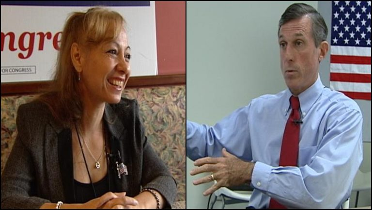 Rose Izzo (R) is challenging incumbent U.S. Rep. John Carney in the Nov. 4 election. (Gene Ashley/WHYY)