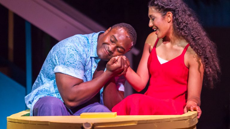 Shabazz Green and Aneesa Niebauer in New Freedom Theatre's production of 'Jamaica.' (Photo courtesy of ethimofoto.net)