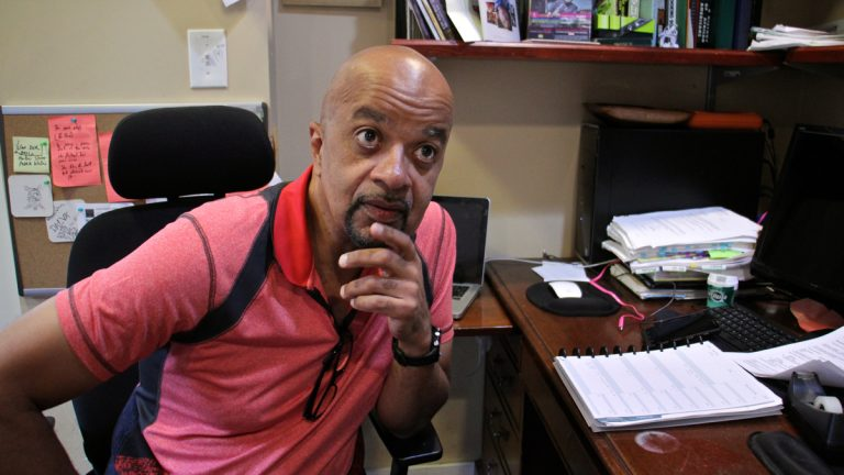 Author James McBride will receive a National Humanities Medal from President Obama on Thursday. (Emma Lee/WHYY)