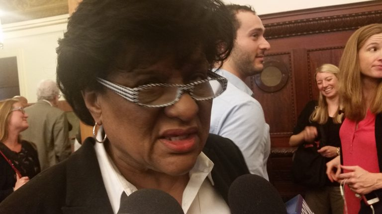 Philadelphia City Councilwoman says a more than 9 percent property tax hike is not the way to raise revenue for the city's schools. (Tom MacDonald/WHYY)