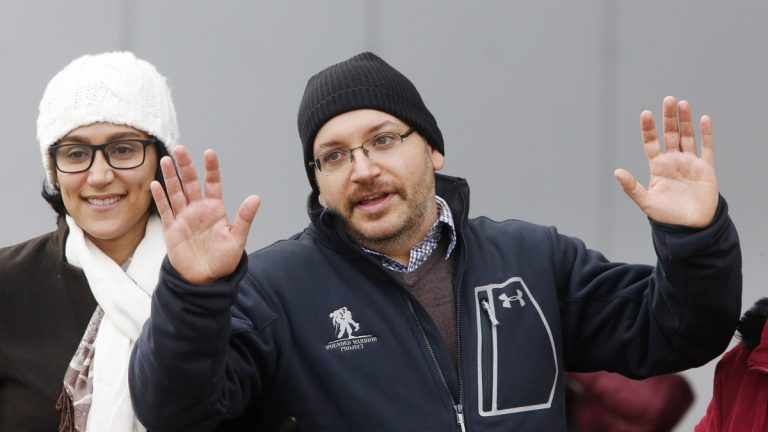 American journalist Jason Rezaian is shown in Landstuhl, Germany, on Wednesday shortly after his release from an Iranian prison last Saturday. (AP Photo/Michael Probst)
