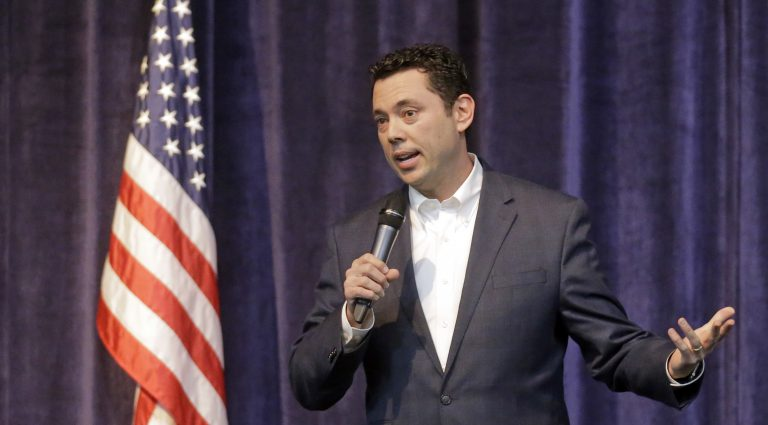 U.S. Rep. Jason Chaffetz is shown speaking at a town hall meeting in Utah in February. (AP Photo/Rick Bowmer