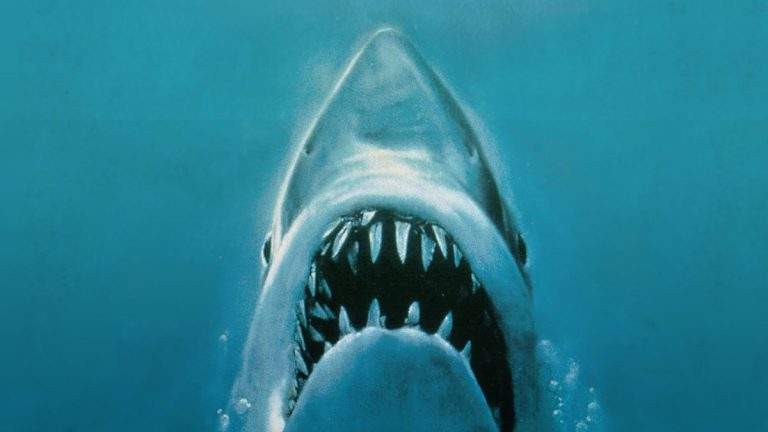 What would 'Jaws' be without John WIlliams' stirring score? (Detail from 'Jaws' movie poster c. 1975)
