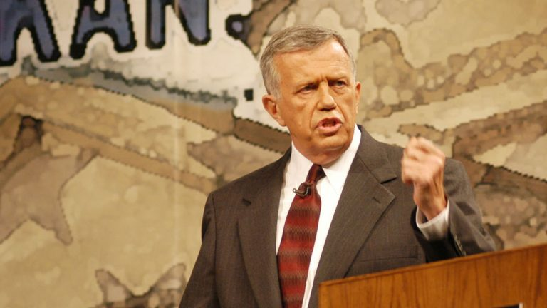 Jay Dickey is shown in 2002 during his run for the Arkansas 4th District seat in the U.S. House of Representatives. (AP Photo/Spencer Tirey)