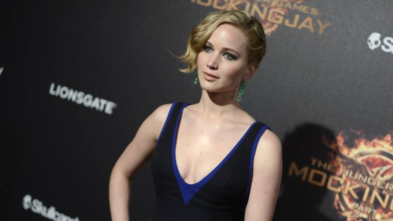 Actress Jennifer Lawrence, seen at the Hunger Games: Mockingjay - Part 1 party in Cannes, France, was among the celebrities whose private images were stolen and distributed online. (Photo by Arthur Mola/Invision/AP)