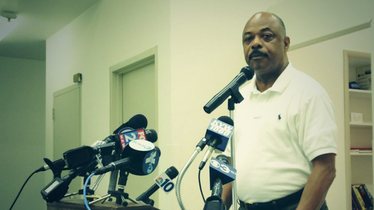 Philadelphia Federation of Teachers president Jerry Jordan announced that he will recommend to members a one-year pay freeze and health care changes to help fill the district's budget shortfall. (Holly Otterbein/WHYY)