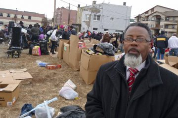 After Sandy, Pastor Collins Days organized relief distribution through Second Baptist Church in Atlantic City.  (Jennifer Lynn/WHYY)