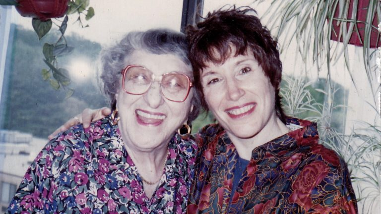 Joan Leof (right) is shown with her mother in this undated photograph. (Image courtesy of Joan Leof)