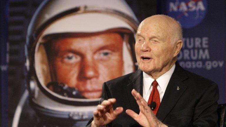 Sen. John Glenn is shown in 2012. Glenn was the first American to orbit Earth