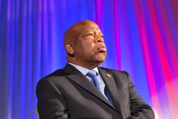 U.S. Rep. John Lewis was honored Wednesday afternoon on the third day of the Democratic National Convention by the Americans for Democratic Action at the African American Museum in Philadelphia.  (Lindsay Lazarski/WHYY)