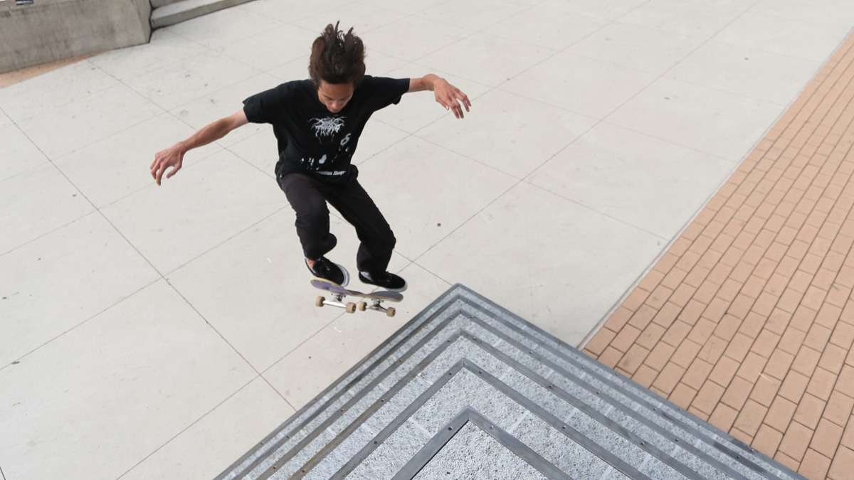 Head to Paine's Park to try out some of the skateable sculptures. (Photo courtesy of S. Weinik)