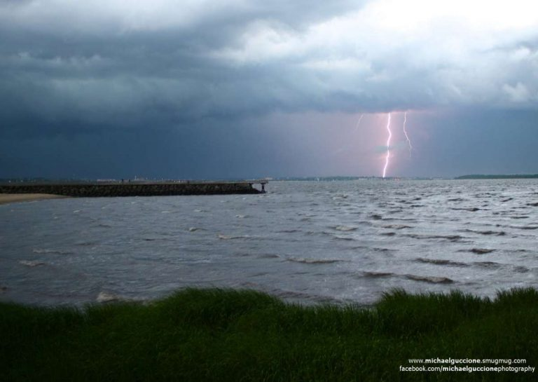 A thunderstorm over Laurence Harbor in early July 2014 by Michael Guccione Photography.