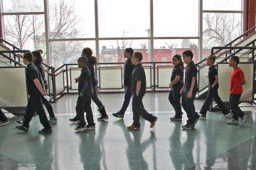 Students change classes at Julia de Burgos Elementary School in Philadelphia, Pa. (Emma Lee/WHYY)