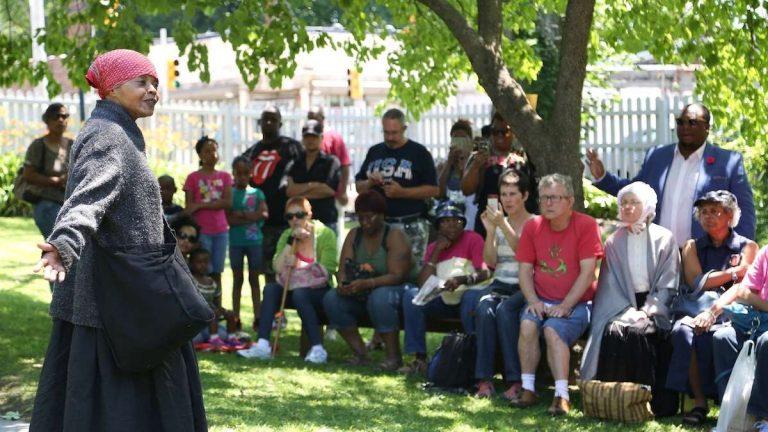 A scene from last year's Juneteenth festival in Germantown. (Natavan Werbock/for NewsWorks, file)