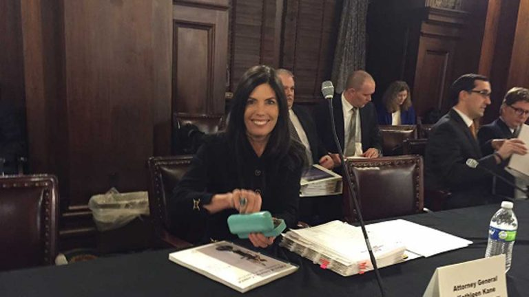 Pennsylvania Attorney General appears Tuesday before the state House Appropriations Committee. (Mary Wilson/WHYY)