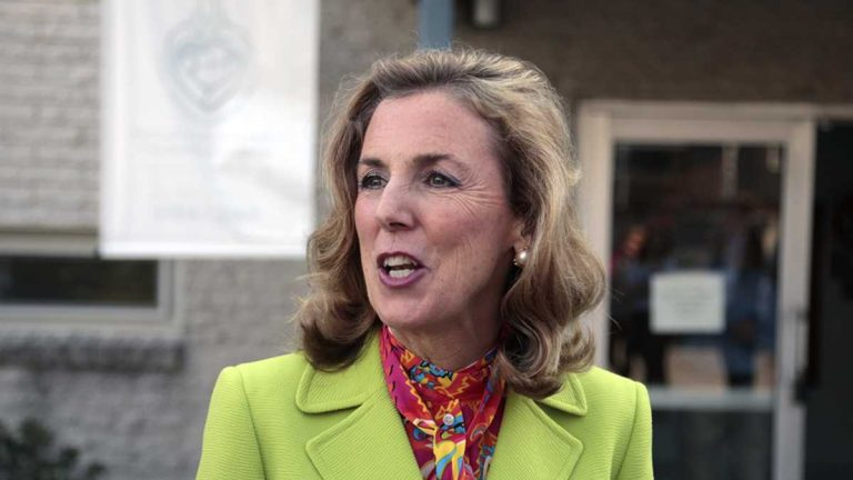 Katie McGinty's had a rough start to the general election campaign.(Jacqueline Larma/AP Photo)