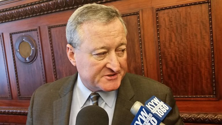 Jim Kenney, Philadelphia's likely next mayor, has been hearing from job seekers hoping for work with the city. (Tom MacDonald/WHYY)