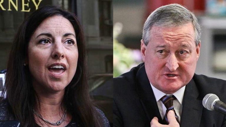 Republican candidate Melissa Murray Bailey, Democrat Jim Kenney, and three independent candidates debate the future of Philadelphia. (NewsWorks file photos)