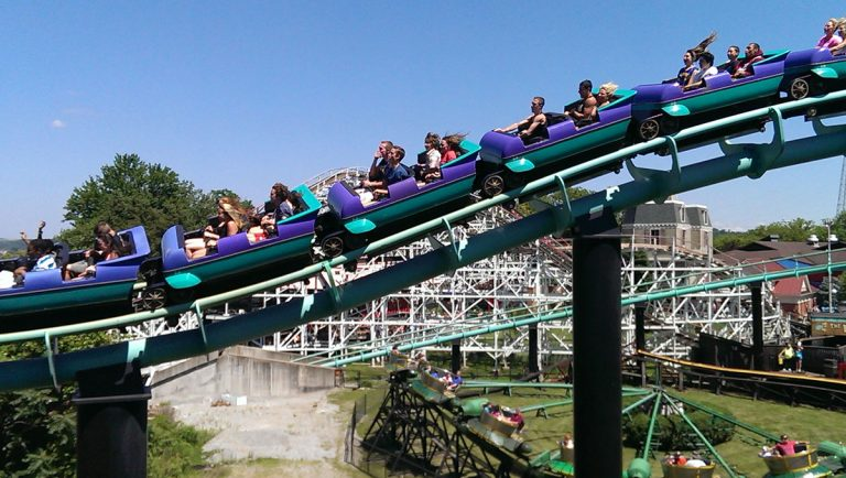 The Phantom's Revenge ride at Kennywood Park in Pittsburgh (Photo courtesy of Fen Labalme/Flickr via Public Source)