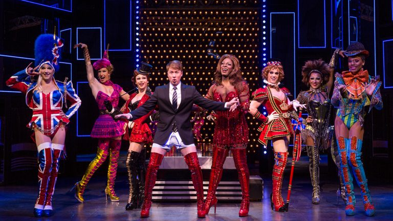 The Broadway tour of Kinky Boots stops in Philadelphia April 28 through May 10 at the Forrest Theatre. Photo by Matthew Murphy.