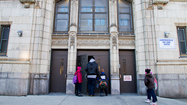 John L. Kinsey Elementary in North Philadelphia is one of 31 school properties that will be empty on the first day of school. (Brad Larrison/for NewsWorks, file)