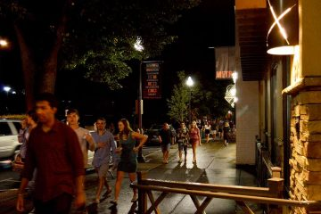 State College is a quintessential university town. During the school year, Penn State students double the borough's population. (Kate Lao Shaffner/WPSU)