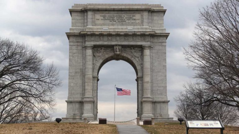 The National Memorial Arch at Valley Forge National Historical Park. (Emma Lee/NewsWorks file photo)