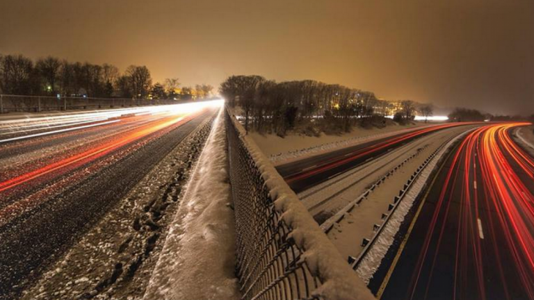 A Feb. 2014 time-lapse image of traffic from a Garden State Parkway overpass in Old Bridge. (Photo: Jennifer Khordi via Jersey Shore Hurricane News)