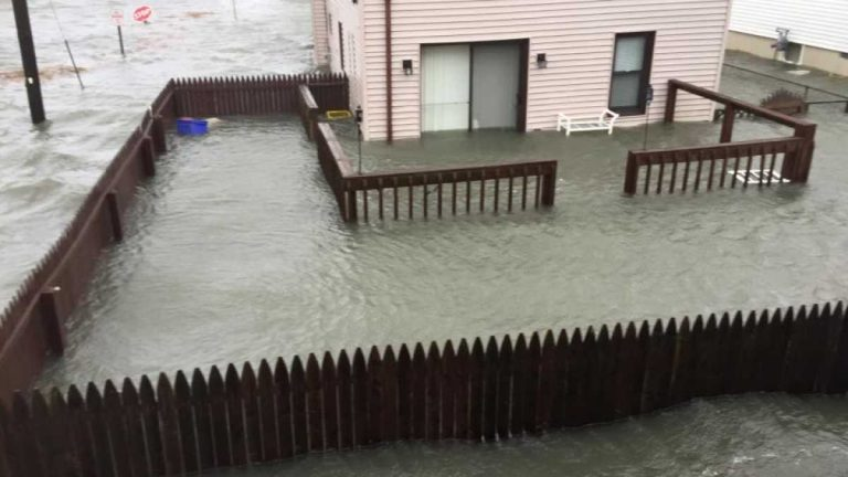 Tidal flooding in West Wildwood in late January 2016. (North Wildwood Police Department)