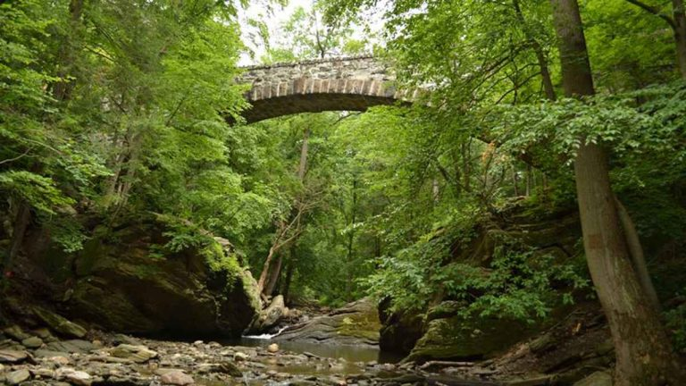Philadelphia's Wissahickon Valley is one of the popular areas of Fairmount Park. (Photo courtesy of Friends of the Wissahickon)