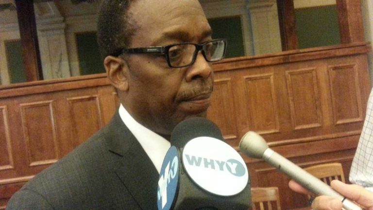 Philadelphia City Council President, Darrell Clarke (Tom MacDonald/WHYY)