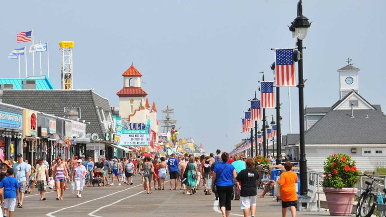 The boardwalk in Ocean City