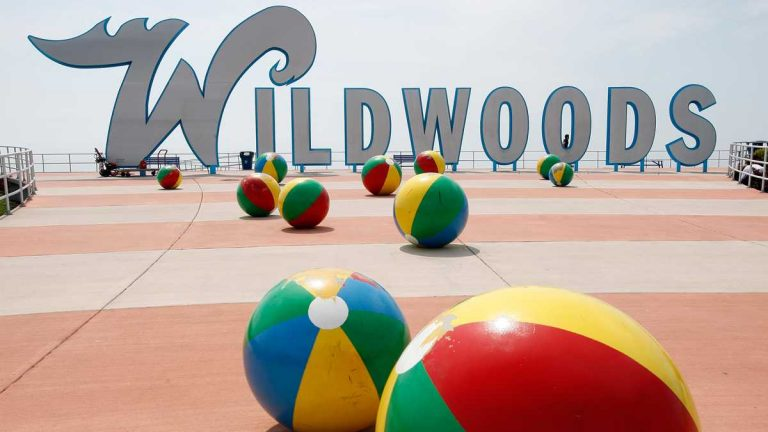 The famous Wildwoods sign in Wildwood, N.J. (AP Photo/Mel Evans)