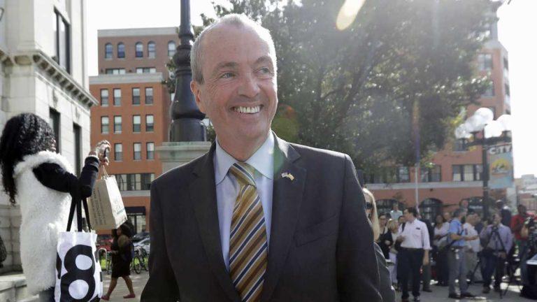 New Jersey's Democratic U.S. senators Cory Booker and Bob Menendez have endorsed Phil Murphy for governor. (AP Photo/Julio Cortez)