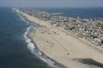 U.S. Army Corps of Engineers Philadelphia District pumps sand onto Brant Beach