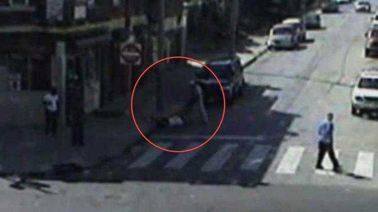 A view of the attack taken via police camera. (Courtesy of Philadelphia Police)