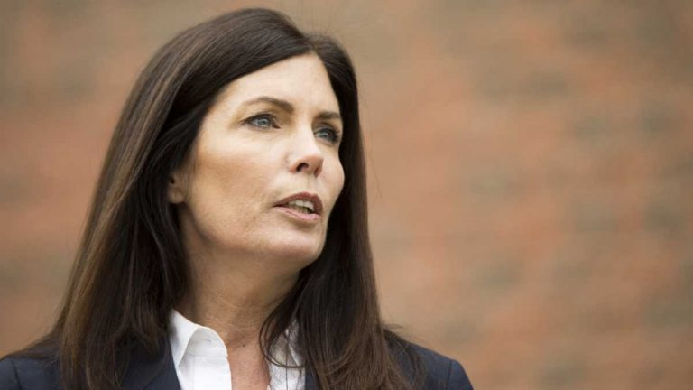 Pennsylvania Attorney General Katleen Kane's law license has been suspended by the stat Supreme Court. But the court syas its ruling the Supreme Court said its order should not be construed as removing Kane, who will stand trial in criminal charges of perjury and conspiracy, from office. (AP file photo)