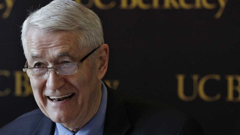 Robert Birgeneau, formerly the University of California, Berkeley Chancellor, was forced to withdraw from a commencement speech at Haverford College in Pennsylvania. (Paul Sakuma/AP Photo)