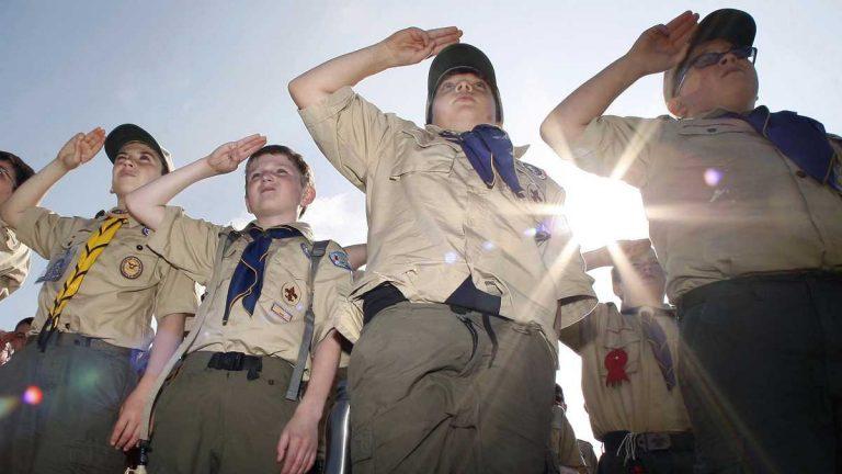 Boy Scouts salute the 2011 New Jersey Boy Scouts Camporee in Sea Girt. (Mel Evans/AP Photo, file)