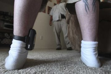 A person wearing an ankle monitor. (Rich Pedroncelli/AP Photo, file)