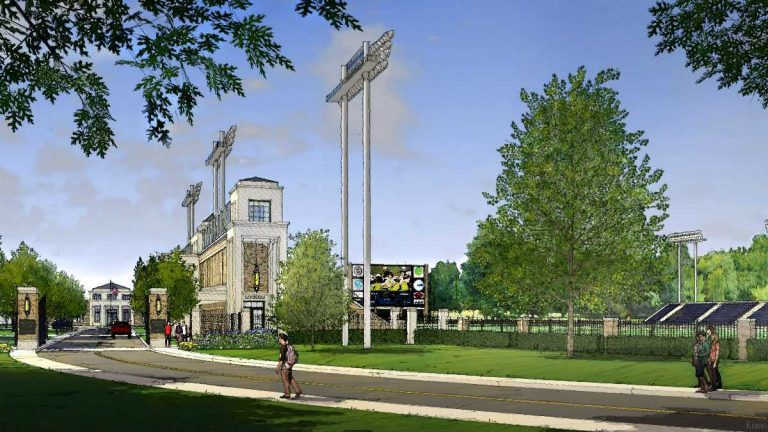 An artist's rendering of shows what a renovated Baynard Stadium would have looked like under the Salesianum plan. (photo courtesy city of Wilmington)