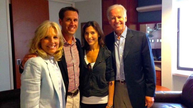 Beau Biden Tweeted this photo of himself, wife Hallie and parents Joe and Jill Biden in 2013. The Iraq war veteran, son of the Vice President and former Delaware Attorney General died Saturday of brain cancer. (Photo via @BeauBiden)