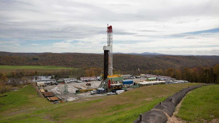 A natural gas drilling pad in Pennsylvania.(Lindsay Lazarski/for WHYY)