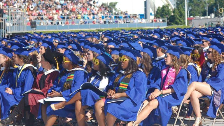 The UD class of 2014 attends graduation at Delaware Stadium.(file photo/WHYY)