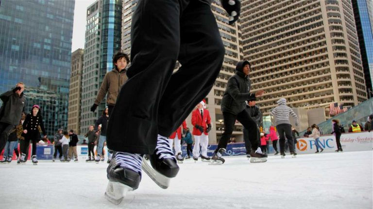 Dilworth Park's ice skating rink opens for the season this weekend. (Emma Lee/WHYY, file)