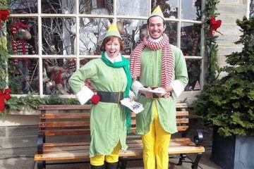 Elves on Germantown Avenue. (Courtesy of  Chestnut Hill Visitors Center)