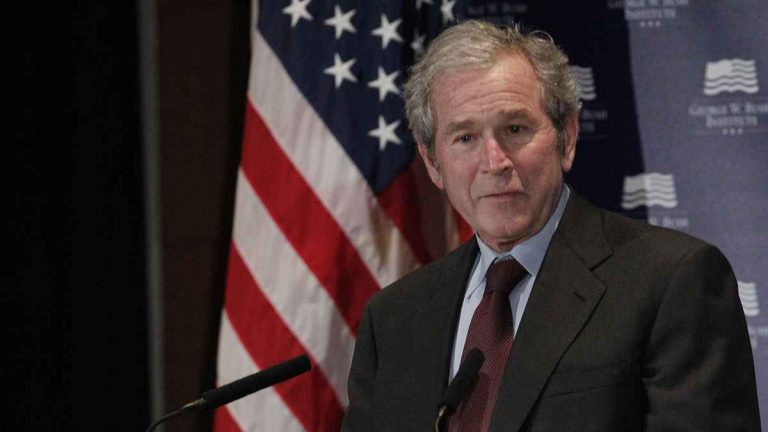 Former President George W. Bush gives opening remarks at the Federal Reserve Bank of Dallas for a conference titled 'Immigration and 4% Growth: How Immigrants grow the U.S. Economy,' Tuesday, Dec. 4, 2012, in Dallas. (LM Otero/AP Photo, file)